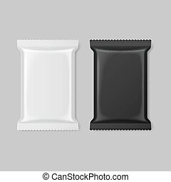 Polymer packaging - Set of polymer packaging in black and...