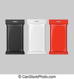 Polymer packaging set - Set of polymer packaging in black...