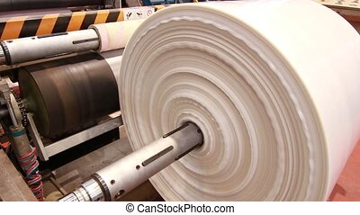 Polymer plastic bags manufactured roll - Plastic bags...