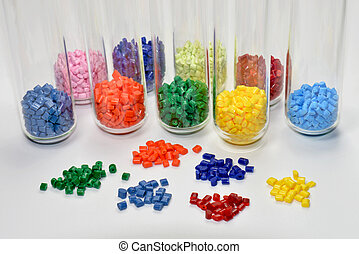 polymer resin with test tubes - a variation of polymer...