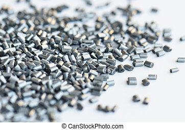 polymer, silver, metallisk