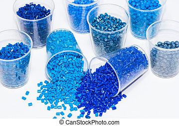 polymer, verschieden, harze, vielfalt