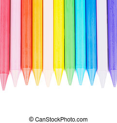 Polymeric Crayons - Border of Multicolored Polymeric Crayons...