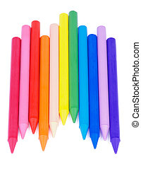 Polymeric Crayons - Arrangement of Multicolored Polymeric...