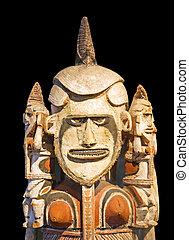 polynesiër, standbeeld