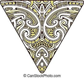 polynesian, estilo, diseño