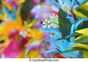 Polynesian flowers head wreath background