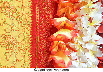 Polynesian Lei garland of flowers background