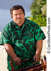 Polynesian Pacific Island Tahitian Music - Portrait of...