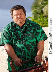 polynesian, pazifik, insel, tahitian, musik