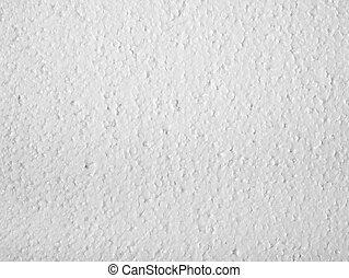 Polystyrene closeup - Full frame closeup of a white ...