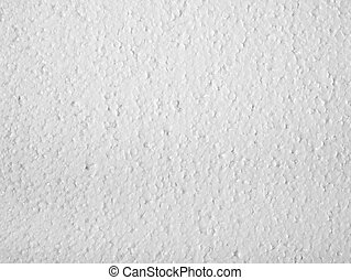 Polystyrene closeup - Full frame closeup of a white...