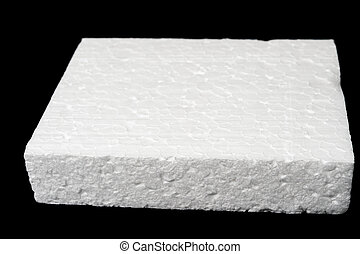 Polystyrene foam - A piece of polystyrene foam isolated on ...