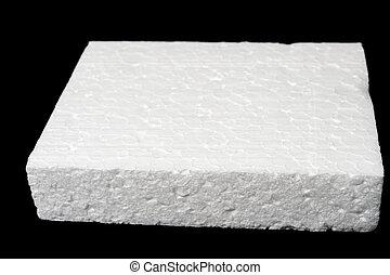 Polystyrene foam - A piece of polystyrene foam isolated on...