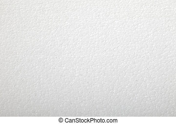 Polystyrene foam background - Close up of a white ...