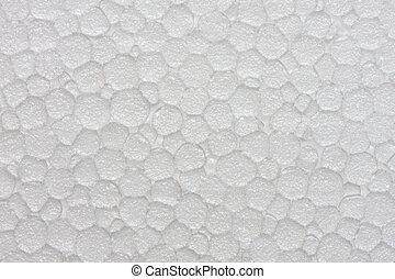 Polystyrene foam texture, close up shot