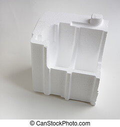 Polystyrene padding for product packaging