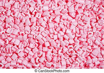 polystyrene - pink packaging material