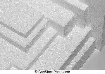 Polystyrene sheets - several white polystyrene sheets for ...