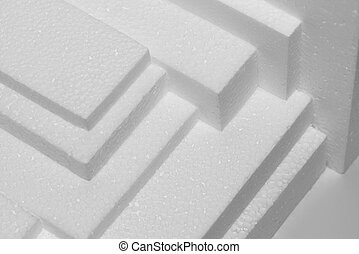 Polystyrene sheets - several white polystyrene sheets for...