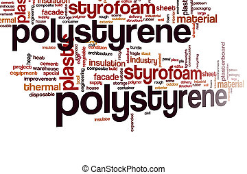 Polystyrene word cloud concept