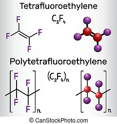 Polytetrafluoroethylene or PTFE, teflon polymer and ...