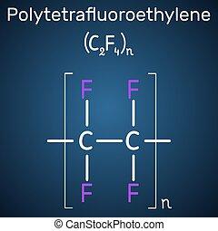 Polytetrafluoroethylene or PTFE, teflon polymer molecule. Is...
