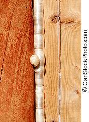 polyurethane, espuma, selos, madeira, construção, lacuna