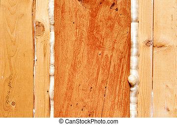 polyurethane, espuma, selos, madeira, intervalos, construção