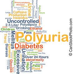 Polyuria background concept