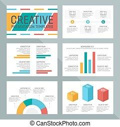 polyvalent, charts., diapositives, graphiques, vecteur, ...
