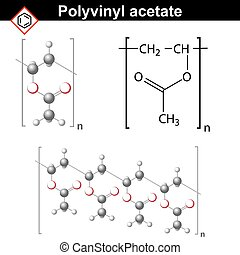 Polyvinyl acetate polymer chemical structure