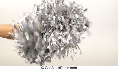 Pom-Pom Of Cheerleader Vector Illustration, slow motion -...