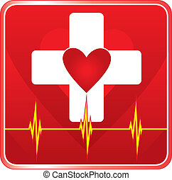 pomagać, medyczne zdrowie, symbol, pierwszy