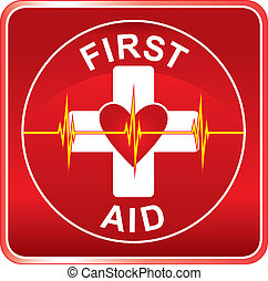 pomagać, symbol, zdrowie, pierwszy