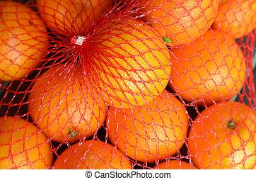pomarańcza, świeży, filet, pomarańcze, plastyk