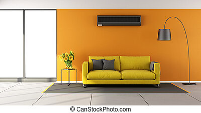 pomarańcza, żyjący, odżywka, pokój, powietrze