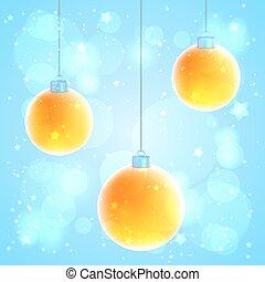 pomarańcza, 3, komplet, boże narodzenie, piłki