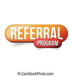 pomarańcza, guzik, program, referral