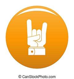 pomarańcza, ikona, ręka, skała