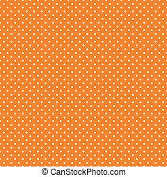 pomarańcza, jasny, polka, seamless, kropkuje
