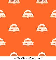 pomarańcza, król, wektor, średniowieczny, próbka