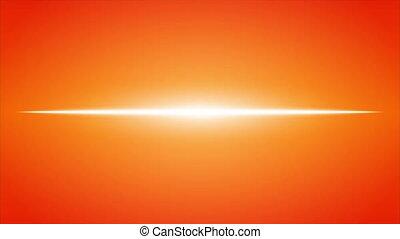 pomarańcza, kreska, neon, skutek, ogień