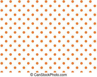 pomarańcza, kropkuje, wektor, polka, eps8