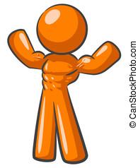 pomarańcza, kulturysta, człowiek