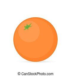 pomarańcza, na, niejaki, białe tło