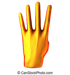 pomarańcza, odliczający, ręka