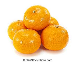 pomarańcza, owoc, tło, biały
