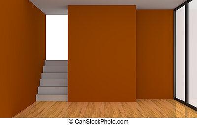 pomarańcza, pokój, żyjący