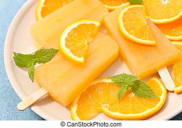 pomarańcza, popsicle